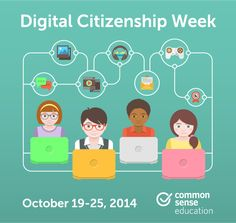 Join us for Digital Citizenship Week and engage students, teachers, and families in your community in thinking critically, behaving safely, and participating responsibly online.