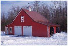 Walnut Pole-Frame Car Barn Plans at BarnsBarnsBarns.com