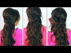 ★CUTE BACK-TO-SCHOOL HAIRSTYLES | EVERYDAY POOFY CURLY HALF-UP UPDOS FOR MEDIUM LONG HAIR TUTORIAL