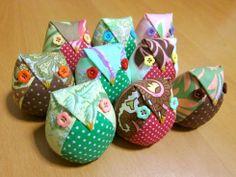Sewing Owls pattern instructions http://sewmuchfabrics.wordpress.com/2011/01/09/sewing-project-stuffed-owl-fukuro/