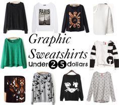Top 10 Graphic Sweatshirts for under $25 (and tips on how to style them this Fall) #fashion #Frugal