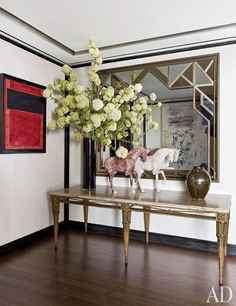 In the entrance hall of Giancarlo Giammetti's New York penthouse.