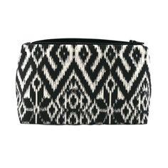 Graphic Makeup Bag / Cosmetic Bag in Black and by JordaniSarreal, $13.95