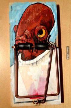 It's a trap... BWAH HA HA HA!  #funny #starwars #geek #nerd #cafepressinc