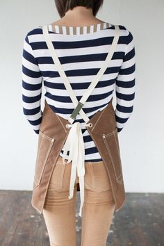 No. 325 Artisan Apron in Rust Waxed Canvas & Cotton Tape Artifact bags