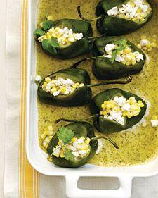 Corn-Stuffed Poblano Chiles Recipe