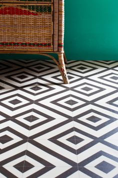 The monochrome look on pinterest monochrome vinyl for Black lino kitchen flooring