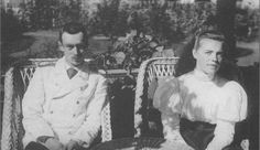 Grand Duke George and Grand Duchess Olga, Nicholas' brother and sister.