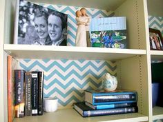 Easy way to spice up shelves!