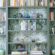Add wallpaper in unexpected places, like behind a bookshelf or to jazz up a single wall.