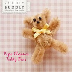 Pipe Cleaner Teddy Bear Instructographic < Craft Ideas | Cuddly Buddly Crafts
