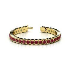 14K Yellow Gold Bracelet with Ruby | Star Trails Bracelet (5mm gems) | Gemvara