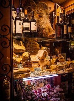 wine/cheese shop-Orvieto, Italy.  I love Orvieto wine that we have at one of our favourite restaurants here in Wine Country, Niagara, Ontario - Cibo Osteria. Grimsby.