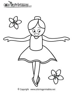 cheerleader color pages printables   Ballet Girl Coloring Page - A Free Girls Coloring Printable