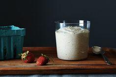 raw buckwheat vegan porridge.