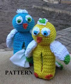 Ravelry: Belly Bebe Birdie Tissue Holder pattern by Lulu Bebeblu