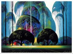 sleeping beauty, forests, tree, earl 19162000, inspir, eyvind earl, green forest, artist, illustr