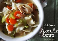 Homemade Chicken Noodle Soup Recipe   Live Craft Eat