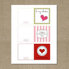 FREE printable Valentines! #valentine's #free #party #ideas