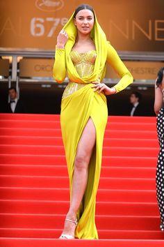 Irina Shayk in Atelier Versace.