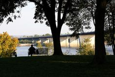 Watching the Mississippi River roll on by at the Old Bridge Overlook Park in Cape Girardeau, Missouri.  By Hummie~, via Flickr