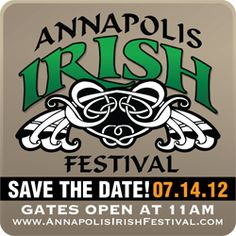 Save the Date for the Annapolis Irish Festival- stop by and visit the Thompson Creek booth. This event is ALWAYS a good time!