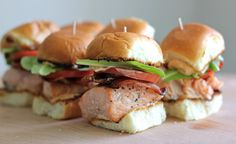 Salmon BLT Sliders with Chipotle Mayo - Damn Delicious