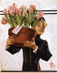 Bellhop with Hyacinths, 1914 - J. C. Leyendecker
