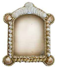 19th century Victorian shellwork frame