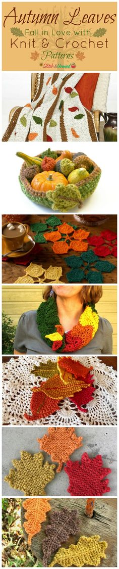 Autumn Leaves: Fall in Love with Knit & Crochet Patterns