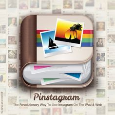 """@hudsonperalta's photo: """"Pinstagram - The Revolutionary iPad & Web Instagram Viewer"""" - Check out the new icon I designed for Pinstagram! Checkout the app at www.Pinstagram.co - #App #Instagram #Pinterest #Pinstagram"""""""