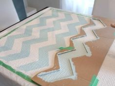 DIY chevron stripe rug
