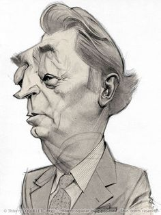 caricature of the actor Robert Mitchum by Thierry Coquelet