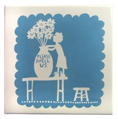 Please Smell Us ceramic tile by misterrob on Etsy, $38.00