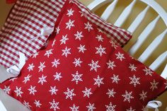 Turn a cloth napkin into a holiday pillow