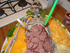 diy Cannibal Meat & Cheese Tray