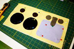 Roll up felt kitchen playmat