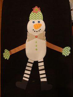scrapbook snowmen