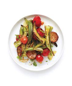 Sauteed Tomatoes, Sausage, and Okra Recipe