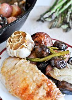 Honey garlic roast chicken skillet