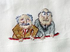 Grumpy old men for the Muppets - would be funny to have them above a pocket