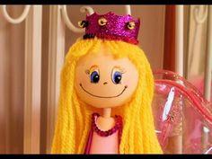 Fofucha princesa con pelo de lana