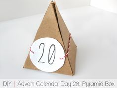 Cafe Craftea: DIY Pyramid Box Advent Calendar