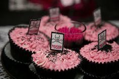 cute #chocolate pink cupcakes