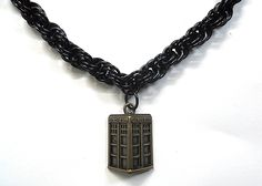 Excited to announce the relaunch of my own website, dobatseatcats.com! This Tardis necklace is inspired by everyone's favorite police box - except this one is antiqued brass and a little bit steampunky! It would make a great gift for any Doctor Who fan. $40.