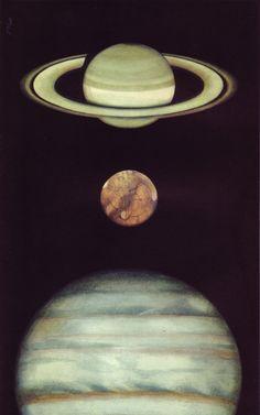 Jupiter, Saturn and Uranus
