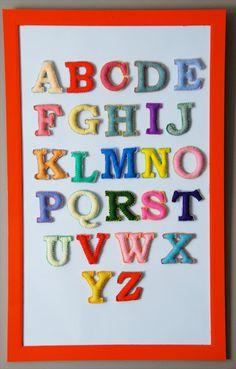 magnetic felt alphabet tutorial