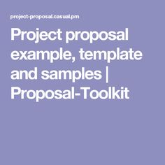Project proposal exa