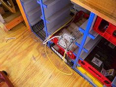 workbench drawers from plastic crates
