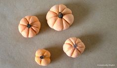 DIY Salt Dough Pumpkins